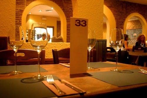 Restaurante El 33 en Barcelona