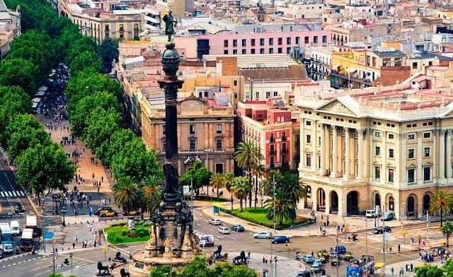 Región de Las Ramblas en Barcelona