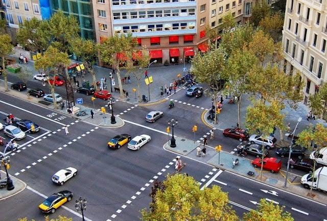 Calles de Barcelona - Automóviles