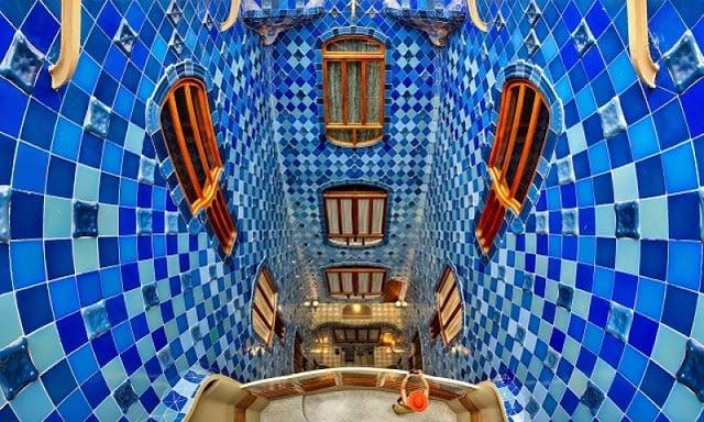 Vista interior de la Casa Batlló en Barcelona