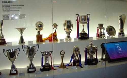Trofeos del Barça en el Museo FC Barcelona