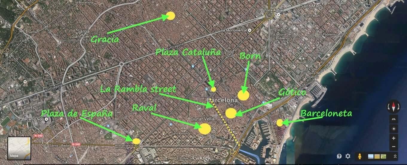 Dónde Hospedarse en Barcelona: Mejores regiones