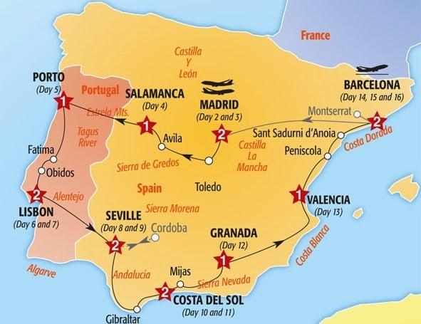 Más sugerencias y recorridos en auto por España
