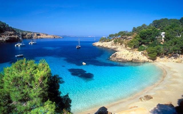 Playa Cala Salada en Ibiza