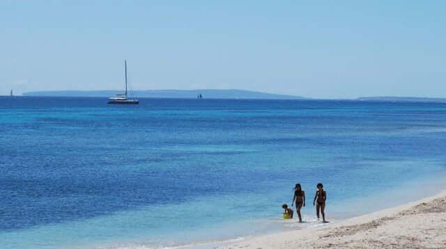 Playa Es Cavallet en Ibiza