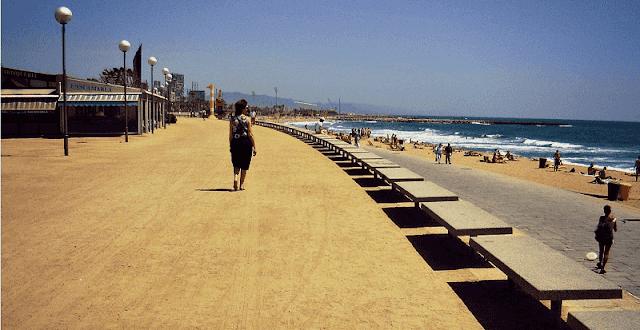 Playa Bogatell en Barcelona