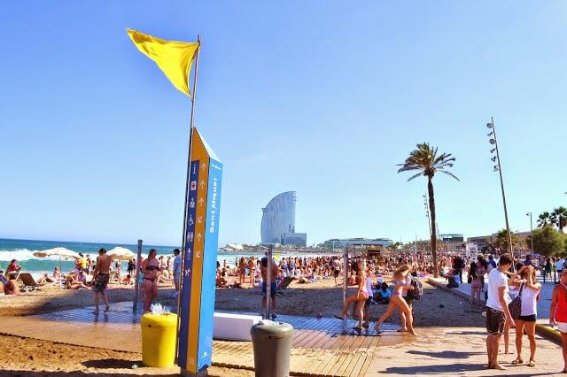 Playa de Sant Miquel en Barcelona
