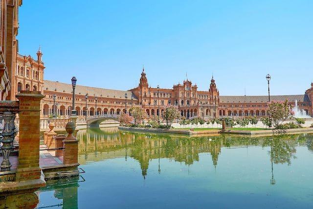 Vista de la Plaza de España en Sevilla