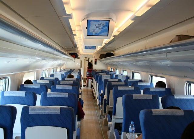 Interior del tren en España