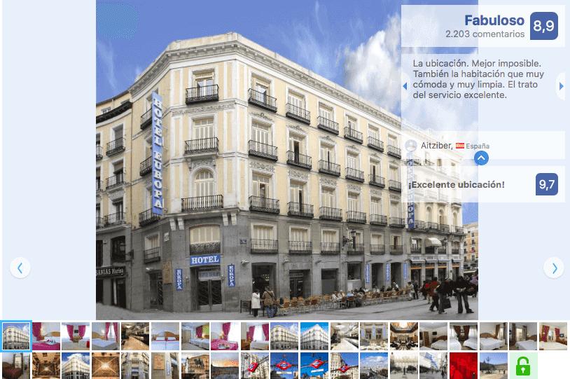 Hotel Europa en Madrid