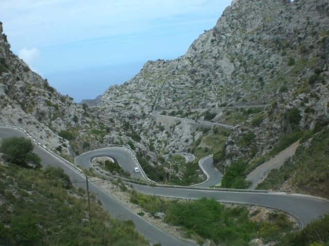 Carretera en Mallorca
