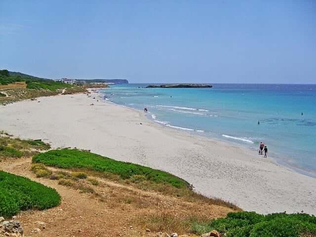 Playa Binigaus en Menorca