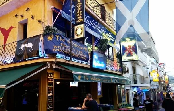 The Highlander Scottish Bar en Ibiza