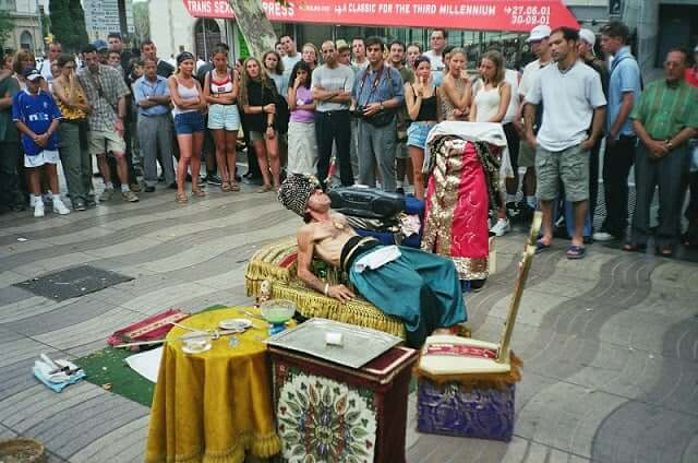 Espectáculos en la calle Las Ramblas