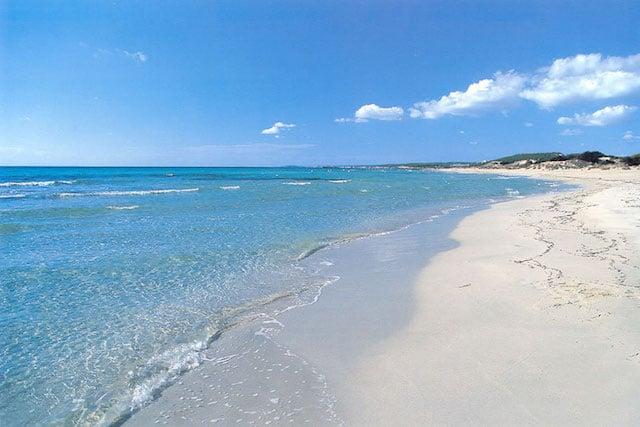 Playa Son Bou en Menorca