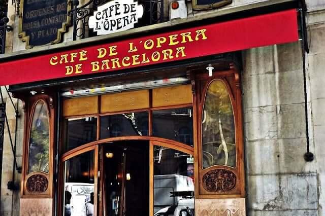 Café de l'Ópera en Barcelona