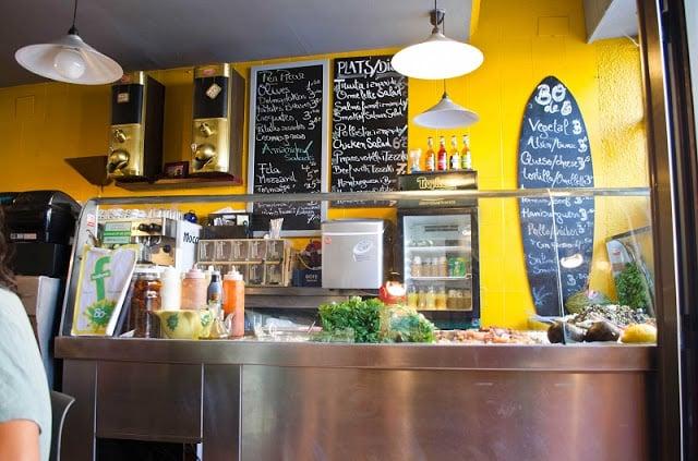 Menú en Barcelona