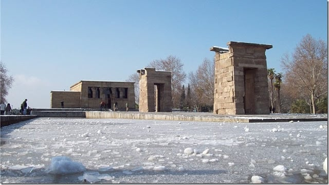 Madrid nevado - Templo de Debod
