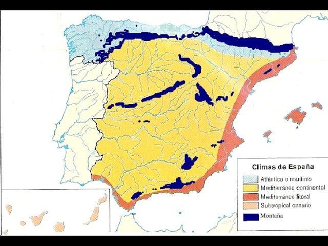 Gráfico del clima en España