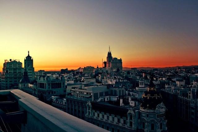 Atardecer en Madrid - más tarde en verano