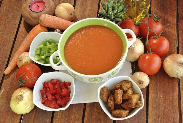 Sopa fría: Gazpacho