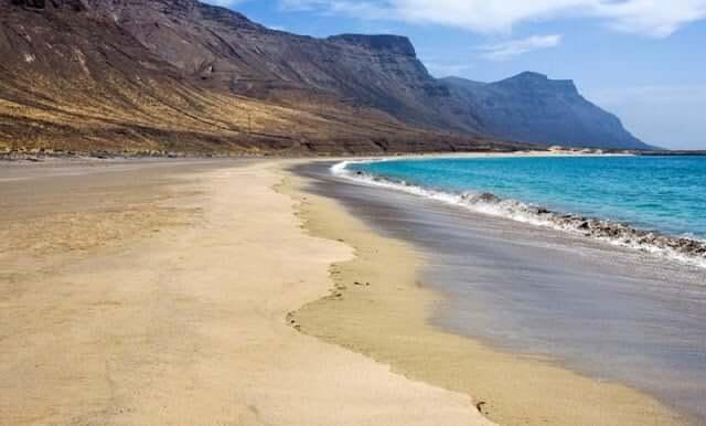 Playa de la Famara en Lanzarote