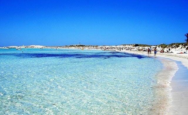 Playa Ses Illetes en Formentera