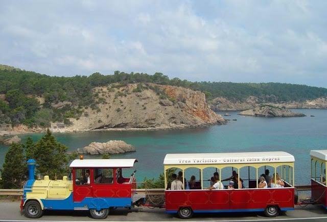 Paseo de Trencito en Ibiza