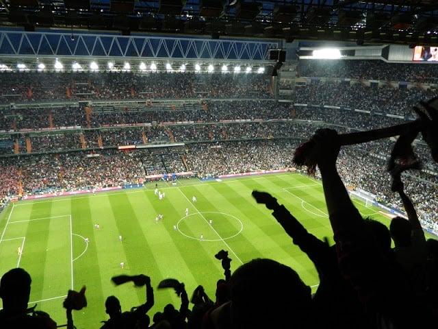 Partido en el Estadio del Real Madrid