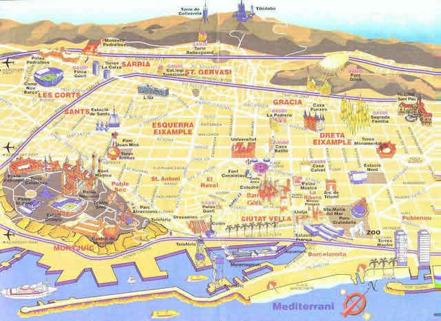 Mapa Turistico De Barcelona 2019 Consejos De Espana